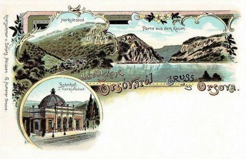 Orsova:részlet a Kazán szorosból.1898