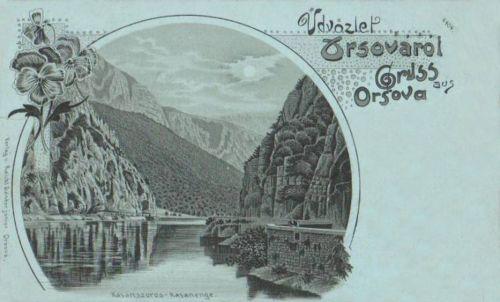 Orsova-Orschowa:Kazán szoros,kőnyomat.1898
