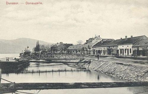 Orsova:Dunasor az Ozanic szállodával.1912