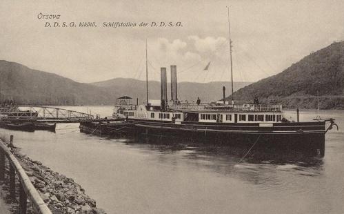 Orsova:D.D.S.G hajó kikötő.1913