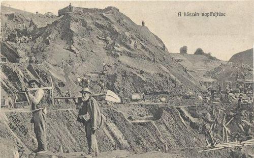 Vulkán kőszén fejtése 1912