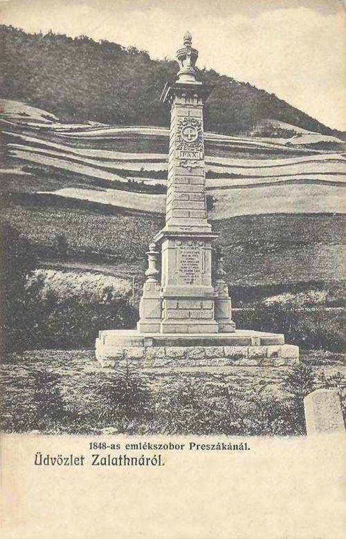 Zalatna: emlékmű(700 magyar zalatnai lakóst mészároltak itt le a románok).1902