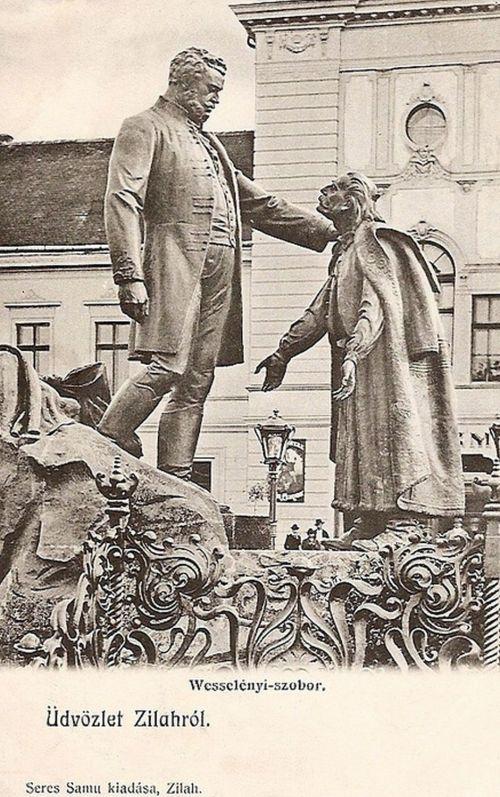 Zilah:Wesselényi Miklós szobra.1907