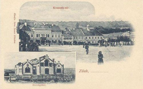Zilah:Kossuth-tér,Közvágóhid.1903