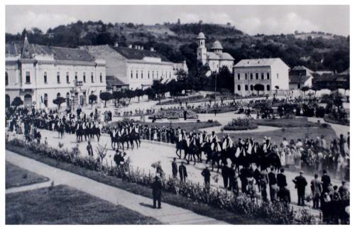 Zilah:bevonulási ünnepség.1940