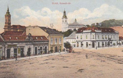 Zilah:református és katolikus templom.1913