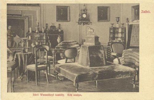Zsibó:kastély,kék szalon.1911