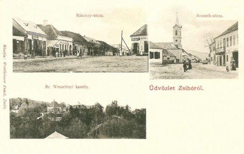 Zsibó-Siben-Jibou:Kossuth és Rákóczi utca.1901