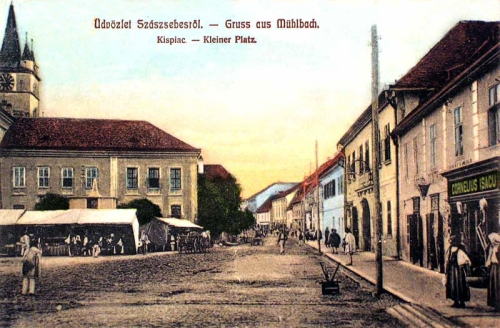 Szászsebes:kis piac.1908