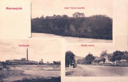 Marosújvár:gróf Teleki kastély,szódagyár,Király utca.1912