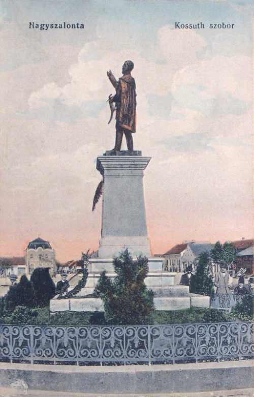 Nagyszalonta:Kossuth Lajos szobor.1912