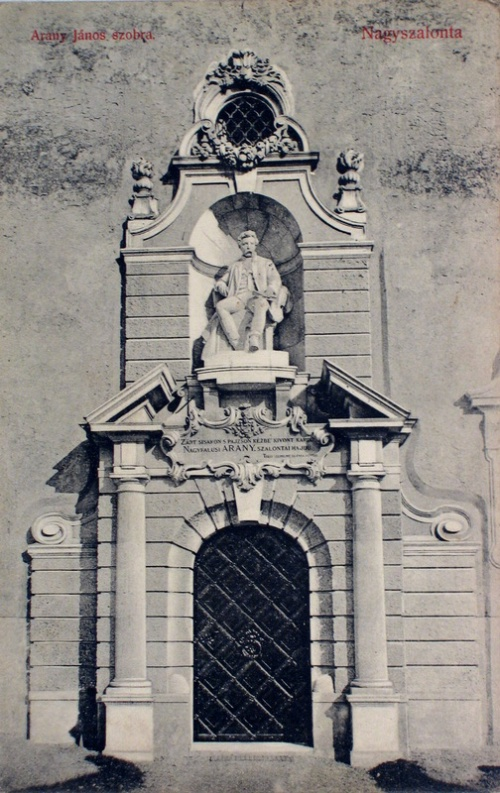 Nagyszalonta:Arany János szobra.1909