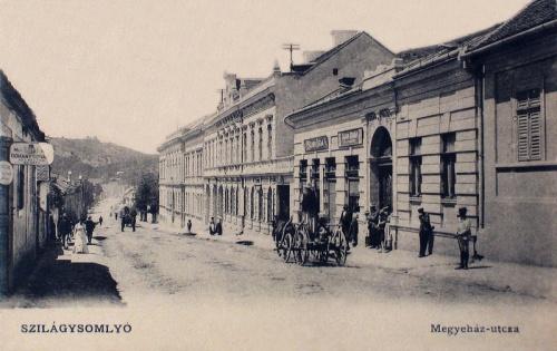 Szilágysomlyó:Megyeház utca.1905