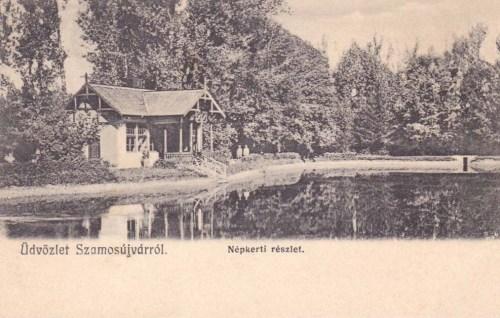 Szamosújvár:Népkert a tóval.1904