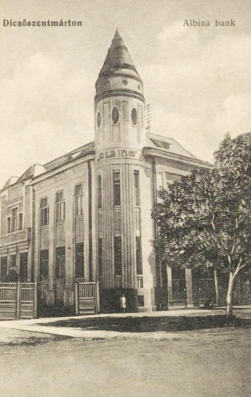 Dicsőszentmárton:Albina bank,1914.