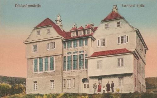 Diciosanmartin:1926-ban létesült Bibliai Intézet,1928-ban.