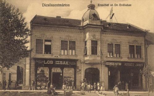 Dr.Erdős-ház:Löb Izsák,Rozenberg Náthán és Kovács János üzlete,1912.