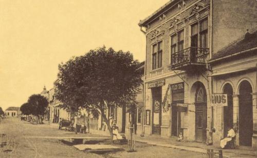 Erzsébet út:Dosztál Erzsébet könyvnyomdája és papir üzlete,1907.