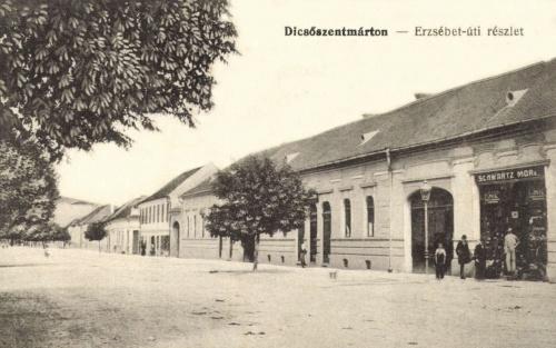 Erzsébet utca:Schwartz Mór vegyeskereskedése,1915.