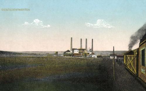 Dicsőszentmárton:karbid- kalcium-ciánamid-gyár,1915.