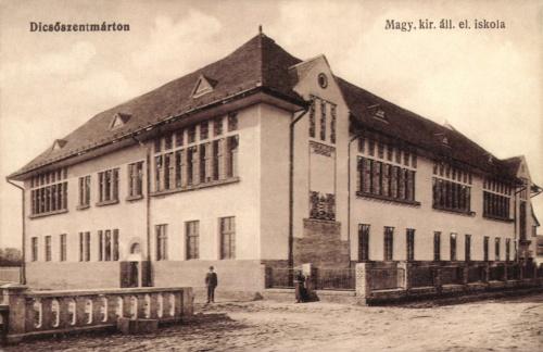 Dicsőszentmárton Magyar Királyi Állami Elemi iskola,1916.