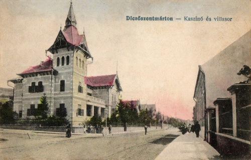 Dicsőszentmárton:kaszinó és villasor,1918.