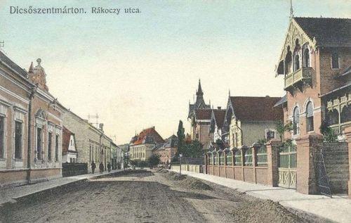Dicsőszentmárton:Rákóczi utca.1910
