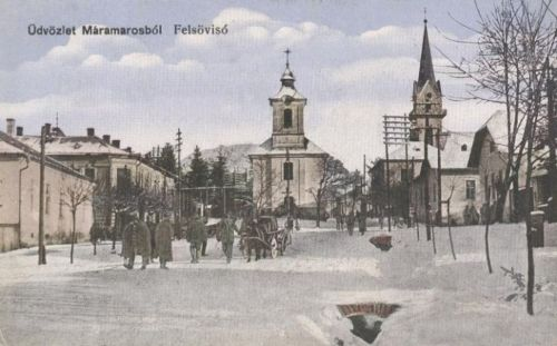 Felsővisó:magyar honvédek vonulása.1916