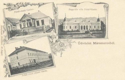 Felsővisó-Oberwischau-Viseu de Sus:casino,iskola,Papp villa.1900