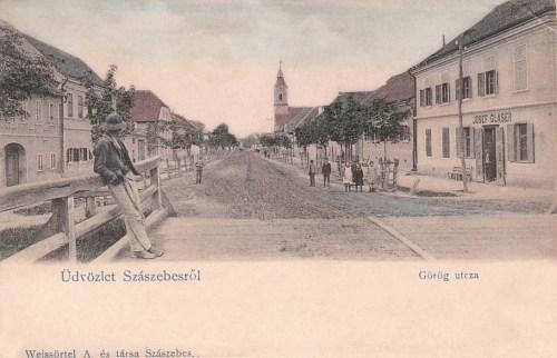Szászsebes:Görög utca.1903