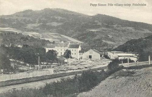 Felsővisó:Papp Simon féle villanytelep.1911