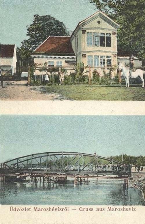 Maroshévíz:villa és hid.1909
