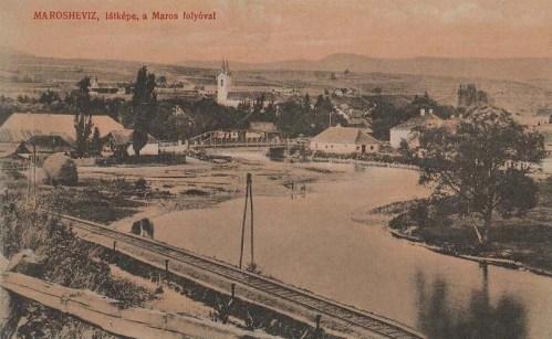 Maroshévíz:látkép a Maros folyóval.1911