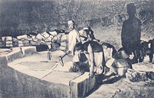 Marosújvár:sóbánya,só kitermelése.1915