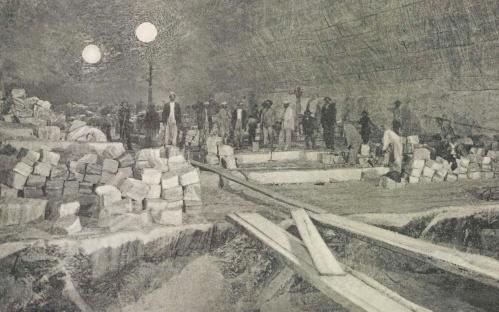 Marosújvár: só tárna belseje,1912.