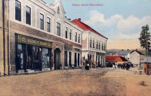 Maroshéviz-Töplitz-Toplita:főtér,Goldmann Hermann üzlete.1913