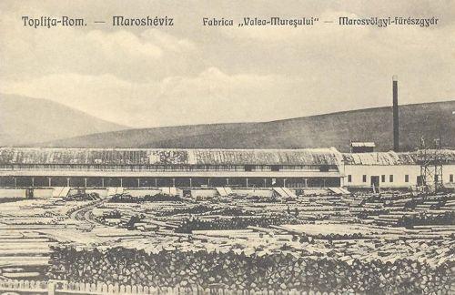 Maroshéviz:marosvölgyi fűrészgyár,fatelep.1938