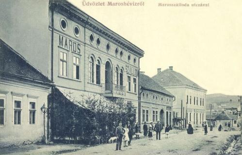Maroshéviz:Maros szálloda és vendéglő,1910.