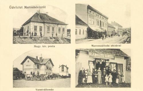 Magyar Királyi Posta,vasútállomás,Slamovits Sámuel kereskedése,1912.