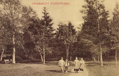 Maroshéviz:Urmánczy fürdő parkja,1911.