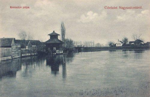 Nagyszalonta:korcsolya pálya.1908