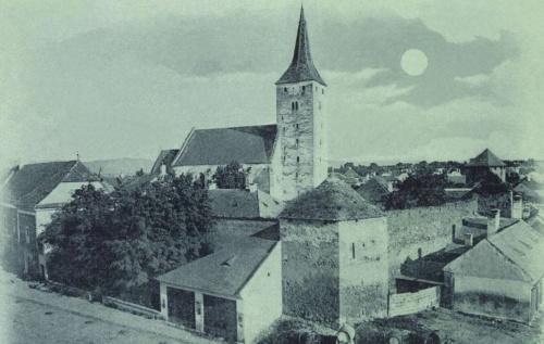 1849 január 8-án,román gyilkosok által megölt magyarok sirja balra lent,1899.