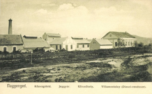 Közvágóhid,jéggyár,műhely és diesel motoros villanytelep,1906.