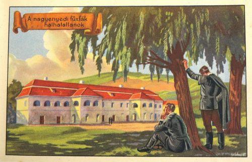 Nagyenyed:kollégium,a nagyenyedi fűzfák halhatatlanok.1920