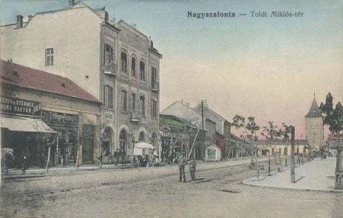 Nagyszalonta:Toldi Miklós tér,Központi szálloda.1912