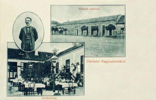 Nagyszalonta:Nemzeti szálloda,kerthelység.1906