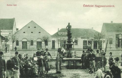 Nagyszalonta:artézi kút,1908.