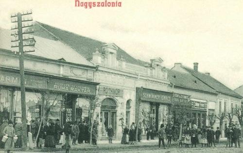 Férfi és gyermek ruha raktár,Róth Mór,Schwimmer Ignácz üzlete,1908.