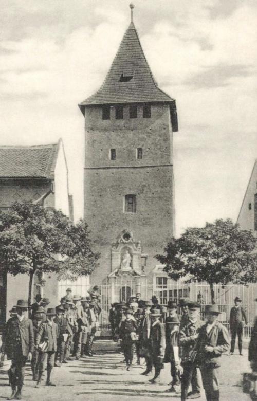 Nagyszalonta:csonkatorony az Arany János toronnyal,1908.