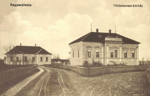 Nagyszalonta község vöröskereszt kórháza,1916.